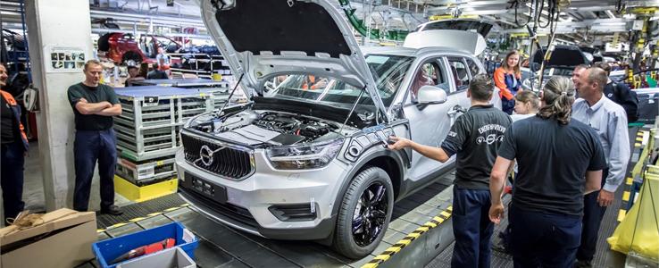 Volvo Cars stopp i produktionen förlängs